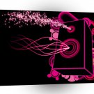 Abstract Music Pink Box A1 Xlarge Canvas