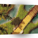 Abstract Music Tropical Guitar Island A1 Xlarge Canvas