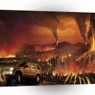 Abstract Nature Force Vocano City Rampage A1 Xlarge Canvas