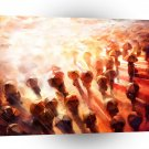 Abstract People Heart Of Light A1 Xlarge Canvas