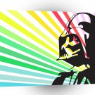 Abstract Sci Fi Darth Vader Rainbow A1 Xlarge Canvas