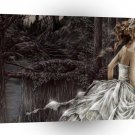 Abstract Sci Fi Distraught Bride A1 Xlarge Canvas