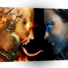 Abstract Sci Fi Firestorm Water Princess A1 Xlarge Canvas