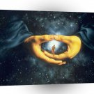 Abstract Sci Fi Hands Of Nature A1 Xlarge Canvas