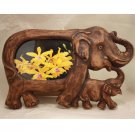 03 Elephant sawdust craft picture frame - Size 4x6