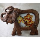 01 Elephant sawdust craft picture frame - Size 4x6