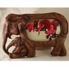02 Elephant sawdust craft picture frame - Size 4x6
