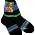 Laurel Burch Three Cat Square Socks