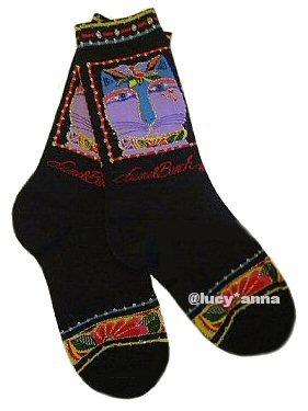 Laurel Burch Mariah Cat Socks