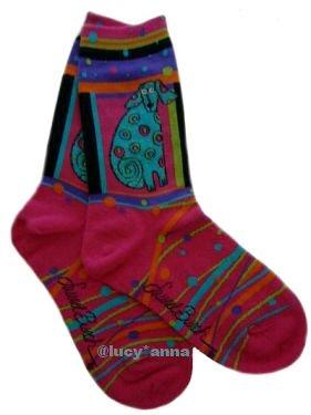 Laurel Burch Matisse The Cat Socks