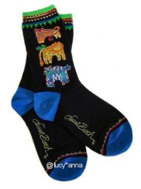 Laurel Burch Jungle Cats Socks