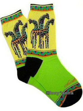 Laurel Burch Giraffe Socks