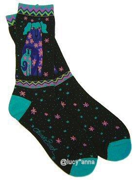 Laurel Burch Dog and Doggie Socks