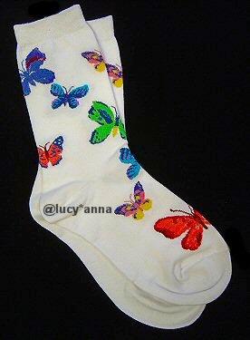 K.Bell Watercolor Butterflies Socks