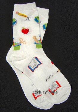 K.Bell Teacher Socks White