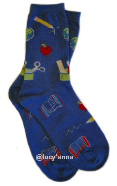 K.Bell Teacher Socks Navy