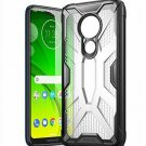 Motorola Moto G7 Power Case Hybrid Rugged Lightweight Anti-scratch TPU Black