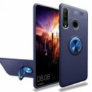 Huawei P30 Lite Case 360 Degree Ring Soft TPU Hard PC Kickstand Magnetic Blue
