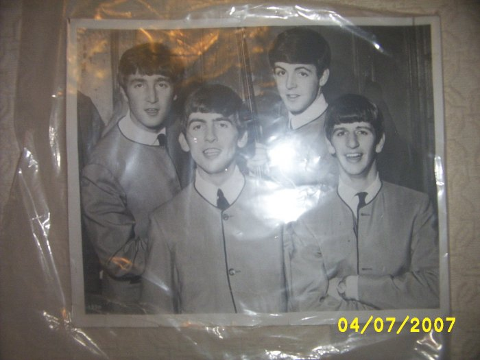 Beatles Photo black & white young Beatles Picture