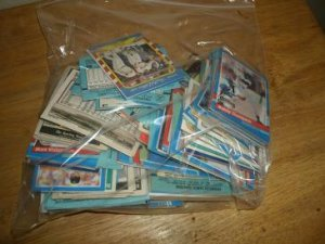 Bag of sports cards