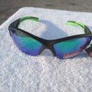 PiRanha Eyewear FLX-T Technology Sunglasses Black /LimeGreen 100% UV 3047