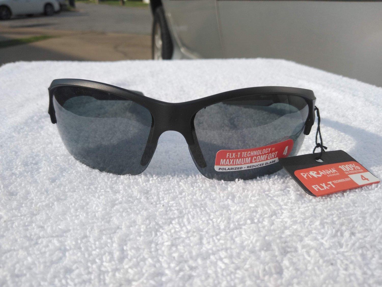 PiRanha Eyewear FLX-T Technology Sunglasses Black/Grey 100% UV 3023