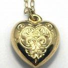 9k Beautiful Designer HeartEngraved 9ct Gold Pendant Necklace #25