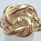New Solid 9ct yellow gold hand finished Size X1/2 16g knot ring