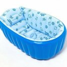 Hhobake Inflatable Baby Bathing Tubs and Seats,Portable Bathtub, Blue