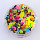 Right About Now - Chunky Loose Black Light Reactive Glitter Mix