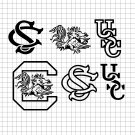 South Carolina Gamecocks logos Digital File Download