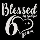 Blessed by God for 60 years Birthday  vintage 1959 svg, 60th