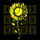 You Are My Sunshine Sunflower Softball svg, Softball  sunshine, Softball  sunflower, png