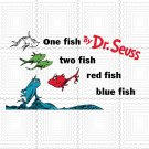 One fish two fish svg, red fish blue fish Svg, Clipart, PNG, Cutting File for Cricut
