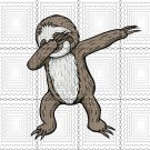 Sloth Dabbing Funny Dance Move Dab svg, Sloth Dabbing svg, png, dxf, vector file for cricut