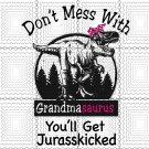 Grandmasaurus Svg, Don't Mess With, Grandmasaurus, Jurasskicked SVG, PNG, DXF
