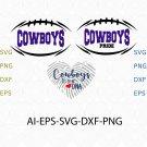 Cowboys it's in my DNA, Cowboys Pride svg, Cowboys vector, Cowboys logo tee