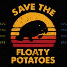 Save the floaty potatoes shirt, svg, png, dxf