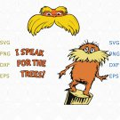 The Lorax I Speak For The Trees SVG, The Lorax svg , I Speak For The Trees, png dxf