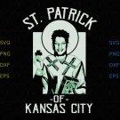 Patrick Mahomes St Patrick Of Kansas City svg, png, eps, jpg vector for cricut