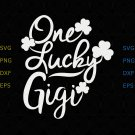 Womens Lucky Gigi svg, Shamrock St Patricks Day Tee Shirt svg, Shamrock St Patricks Day svg