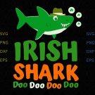 Irish shark doo doo doo svg, Happy St. Patrick's Day SVG, St Patricks Day png dxf svg files