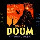 Mount Doom National Park Svg, Silhouette Cricut Svg Pdf Dxf Png File