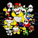 Nintendo Super Mario Bowser Enemy Group Svg, Super Mario, Nintendo svg