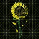 45th Birthday SvG, Vintage 1974, Birthday SvG, Party, Birthday Design, DxF