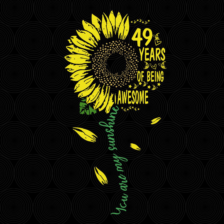 49th Birthday SvG, Vintage 1970, Birthday SvG, Party, Birthday Design, DxF