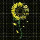 58th Birthday SvG, Vintage 1961, Birthday SvG, Party, Birthday Design, DxF