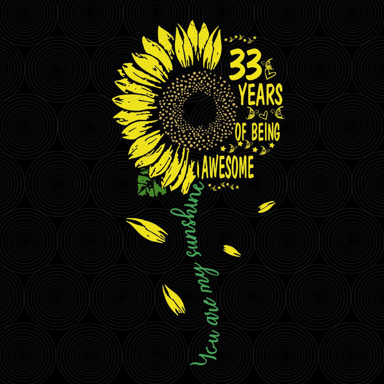 33th Birthday SvG, Vintage 1986, Birthday SvG, Party, Birthday Design, DxF