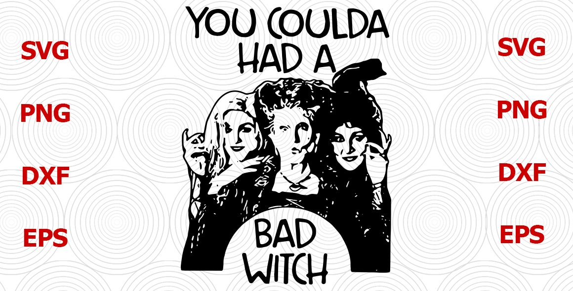 Hocus pocus svg, you coulda had a bad witch svg, halloween svg, halloween shirt