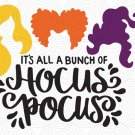 Hocus Pocus SVG | Sanderson Sisters SVG | Witches Hair Cute Halloween SVG